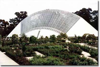 View across the Botanic Gardens of the Bicentennial Conservatory Adelaide