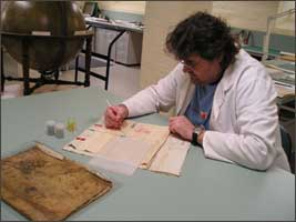 The Conservation staff provide specialised treatments for individual collection items
